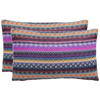Safavieh Mirabelle 20-Inch Chocolate Decorative Throw Pillow (Set of 2)