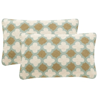 Safavieh Carna 20-Inch Amist Green Decorative Throw Pillow (Set of 2)