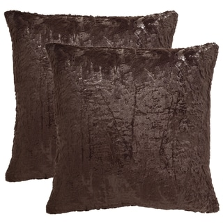 Safavieh Kiki 24-Inch Dark Truffle Decorative Throw Pillow (Set of 2)