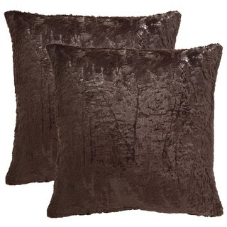 Safavieh Kiki 20-Inch Dark Truffle Decorative Throw Pillow (Set of 2)