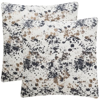 Safavieh Bess 24-Inch Splattered Pewter Decorative Throw Pillow (Set of 2)