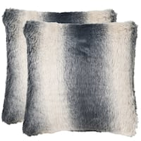 Safavieh Ombre 20-Inch Faded Grey Decorative Throw Pillow (Set of 2)