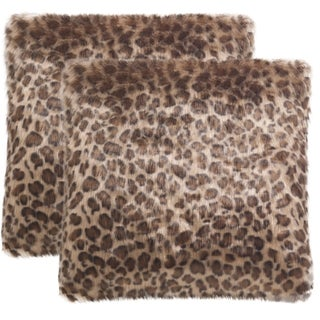 Safavieh Leopard Print 20-Inch Leopard Decorative Throw Pillow (Set of 2)