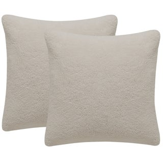 Safavieh Marshmallow 20-Inch Crème Decorative Throw Pillow (Set of 2)