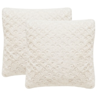 Safavieh Pebbles 20-Inch Crème Decorative Throw Pillow (Set of 2)