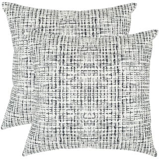 Safavieh Data 20-Inch Graphite Decorative Throw Pillow (Set of 2)