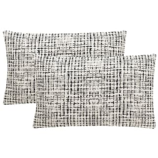 Safavieh Data 20-Inch Graphite Decorative Throw Pillow (Set of 2)