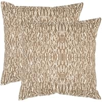 Safavieh Techie 20-Inch Earth Decorative Throw Pillow (Set of 2)