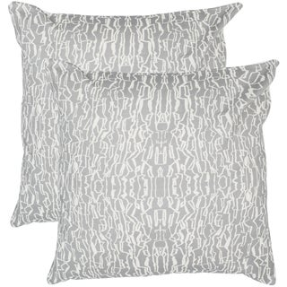 Safavieh Techie 20-Inch Steel Decorative Throw Pillow (Set of 2)
