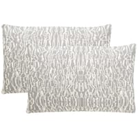 Safavieh Techie 20-Inch Steel Decorative Throw Pillow (Set of 2)