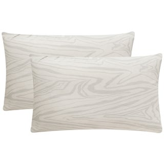 Safavieh Marbella 20-Inch White Silver Decorative Throw Pillow (Set of 2)