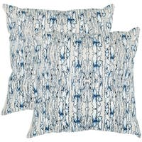 Safavieh Currents 20-Inch Sky Beige Decorative Throw Pillow (Set of 2)