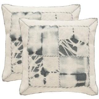 Safavieh Dip-Dye Quartre Patch 20-Inch Seasalt Decorative Throw Pillow (Set of 2)