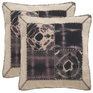 Safavieh Dip-Dye Quartre Patch 24-Inch Sumac Decorative Throw Pillow (Set of 2)