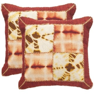 Safavieh Dip-Dye Quartre Patch 24-Inch Chili Pepper Decorative Throw Pillow (Set of 2)