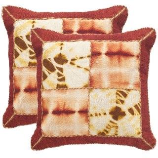Safavieh Dip-Dye Quartre Patch 20-Inch Chili Pepper Decorative Throw Pillow (Set of 2)