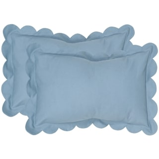 Safavieh Pinafore 20-Inch Wedgwood Blue Decorative Throw Pillow (Set of 2)