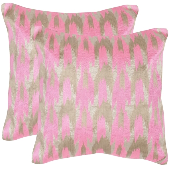 Safavieh Boho Chic 20-Inch Neon Petunia Decorative Throw Pillows (Set of 2)
