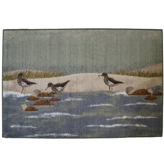Sandpiper Beach Non-skid Kitchen Accent Mat Rug (3' x 4')