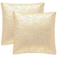 Safavieh Demi 22-Inch Gold Decorative Throw Pillow (Set of 2)