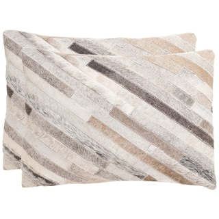 Safavieh Cherilyn 20-Inch Grey Decorative Throw Pillow (Set of 2)