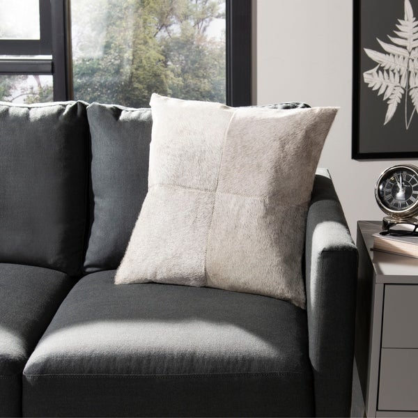 Safavieh Levar 22-Inch Grey Decorative Throw Pillow (Set of 2)