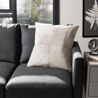 Safavieh Levar 18-Inch Grey Decorative Throw Pillow (Set of 2)