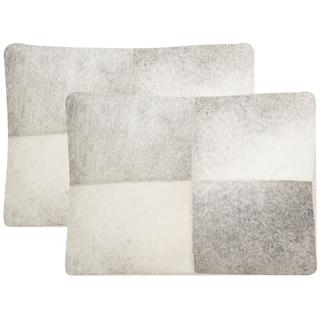 Safavieh Levar 20-Inch Grey Decorative Throw Pillow (Set of 2)