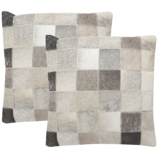 Safavieh Taurean 22-inch Grey Decorative Throw Pillow (Set of 2)