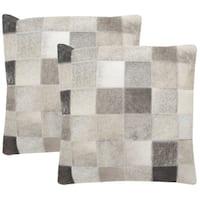 Safavieh Taurean 22-inch Grey Decorative Throw Pillow (Set of 2)