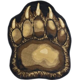 Bear Paw Print Area Rug (3' x 5')