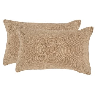 Safavieh Cleopatra 18-inch Old Gold Decorative Throw Pillow (Set of 2)
