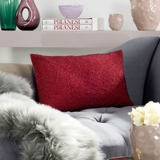 Safavieh Ruby 18-inch Satin Red Decorative Throw Pillow (Set of 2)