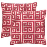 Safavieh Chy 18-Inch Satin Red Decorative Throw Pillow (Set of 2)