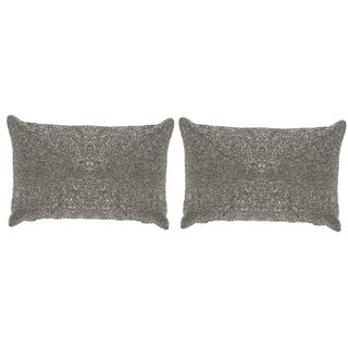 Safavieh Glitter 18-inch Sparkling Silver Decorative Throw Pillow (Set of 2)
