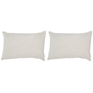 Safavieh Glitter 18-Inch Sparkling Pearl Decorative Throw Pillow (Set of 2)