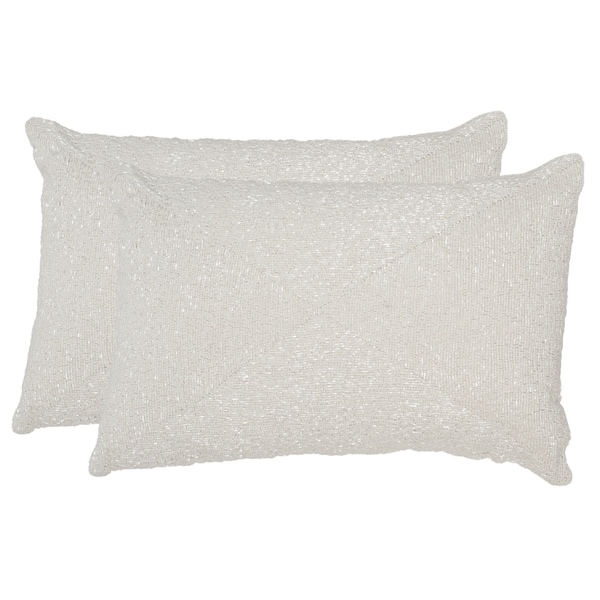 Safavieh Glitter 18-Inch Sparkling Pearl Decorative Throw Pillow (Set of 2) - Free Shipping ...
