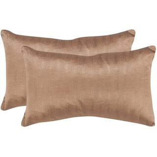 Safavieh Luster 20-Inch Champagne Decorative Throw Pillow (Set of 2)