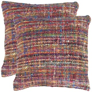 Safavieh Carrie 20-inch Rainbow Decorative Throw Pillow (Set of 2)