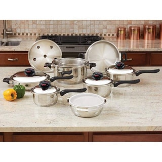 Chef's Secret KT915 15-piece 12-element T304 Stainless Steel Cookware