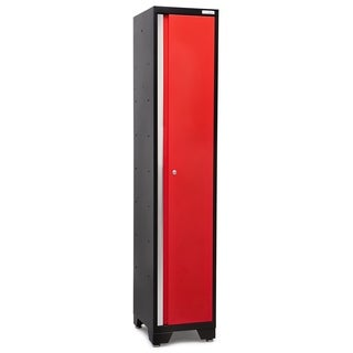 Bold Series Grey, Red Steel 72-inch x 15-inch x 18-inch Sports Locker