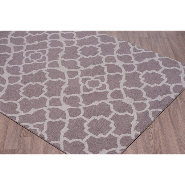 Wool Loop Rug: Shop Trellis Grey Wool Loop Rug