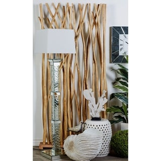 Natural 80 X 40 Inch Teak Wood Branches Room Screen by Studio 350