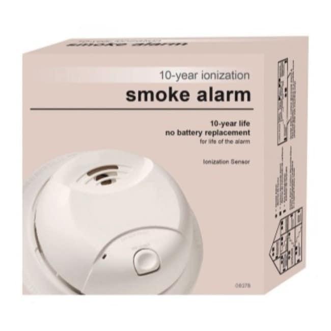 First Alert 0827B White 10 Year Ionization Smoke Alarm (A...