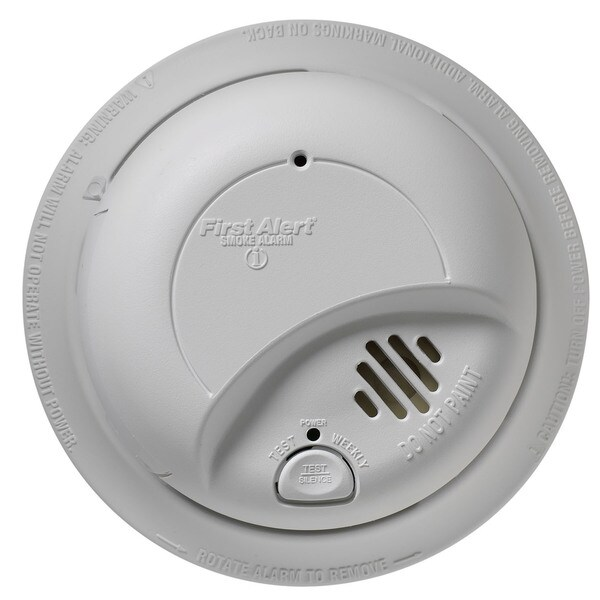 shop first alert 9120b 120 volt hardwired smoke alarm with