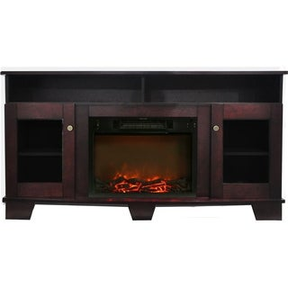 Cambridge CAM6022-1MAH Savona Mahogany Fireplace Mantel with Electronic Fireplace Insert