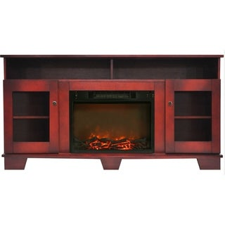 Cambridge CAM6022-1CHR Savona Cherry Fireplace Mantel with Electronic Fireplace Insert