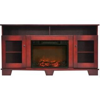 Cambridge CAM6022-1CHR Savona Cherry Fireplace Mantel with Electronic Fireplace Insert