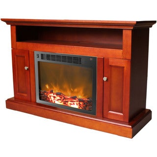 Cambridge Sorrento Cherry Fireplace Mantel with Electronic Fireplace Insert