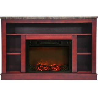 Cambridge Seville Cherry Fireplace Mantel with Electronic Fireplace Insert